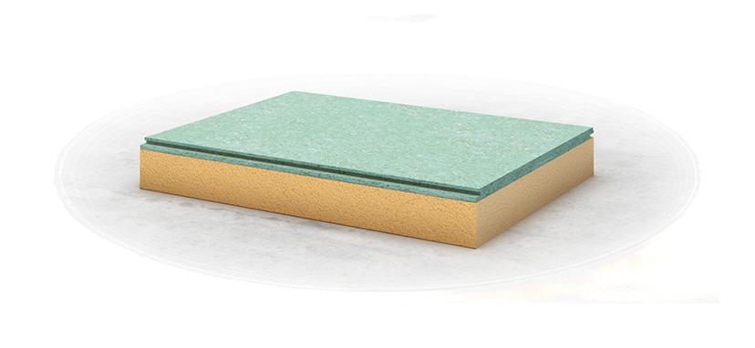 Укладка на пенополистирол, плотность от 35 кг куб.м.